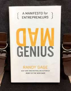 # Highly Recommended《Bran-New + 2016 Hardcover Edition + How To Unleash Your Entrepreneurial Genius》Randy Gage - MAD GENIUS : A Manisfesto For Entrepreneurs