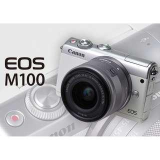 Canon EOS M100 1545 kit ( WHITE )