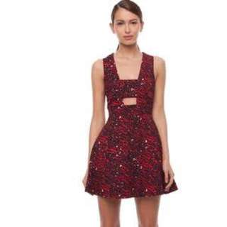 Camilla and Marc muse of red print dress size 8