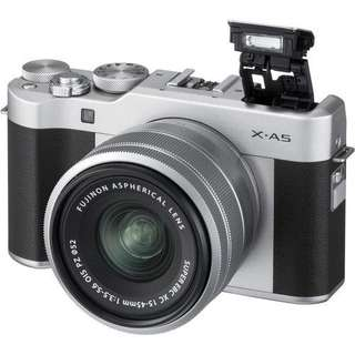 Kredit Fujifilm X-A5 Mirrorless Digital Camera with 15-45mm + SDHC 16 GB dp ringan tanpa Cc