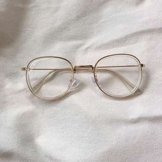 clear frame spectacles