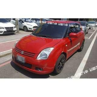 2006年 Swift 紅 搭配3500元交車方案 輕鬆貸款無負擔