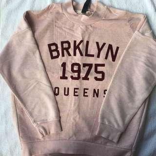 Pink Brooklyn Logo Pullover