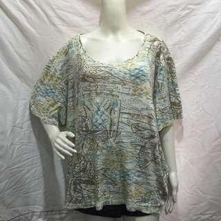 LIZ&ME printed plus size ladies tshirt blouse 22/24