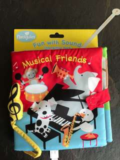 Baby Cloth Book interactive music