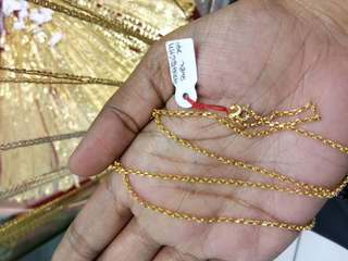 Tauco chain- Genuine 18K Gold