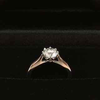 實惠訂製 求婚戒指 Diamond Rings Engagement Rings 18K 1.00卡 G colour 3EX NON 度手訂製