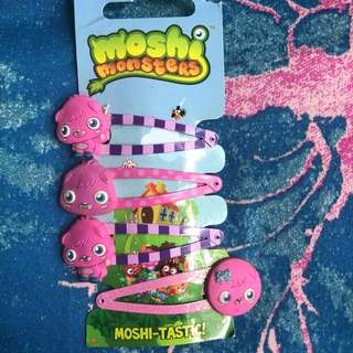 Moshi monsters hair clips
