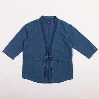 100% Brand new Adlib 7/L Sleeves Indigo Kimono