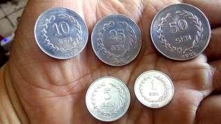 1set Koin Sukarno Irian Barat 1962
