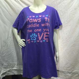 THE ANIMAL RESCUE SITE violet printed plus size ladies long tshirt blouse xxl