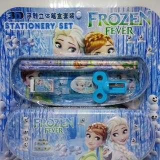 Stationery set tempat pensil kartun Frozen