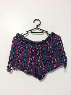 Flowy aztec shorts