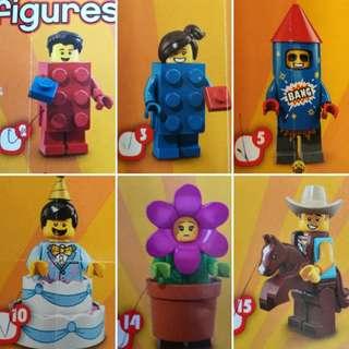 Lego minifigure 18代 六隻 71021