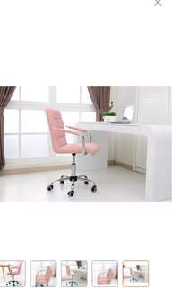 Leather comfort & ergonimic swivel chair - pink