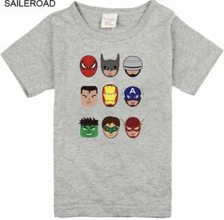 Children's cartoon avengers tee