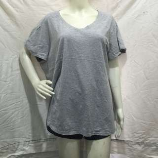 JMS (just my size) gray plain plus size ladies tshirt blouse 3xl