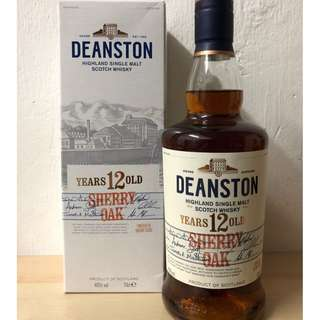 Deanston 12 Year Old Sherry Oak Single Malt 汀士頓重雪莉桶12年單一純麥