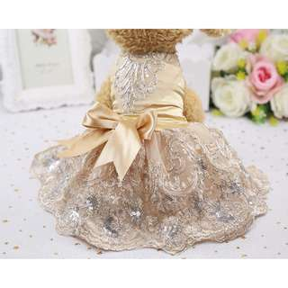 88雜貨鋪 寵物衣服 高檔婚紗立體繡花禮服裙 貓狗衣服 馬爾濟斯/貴賓/博美/吉娃娃