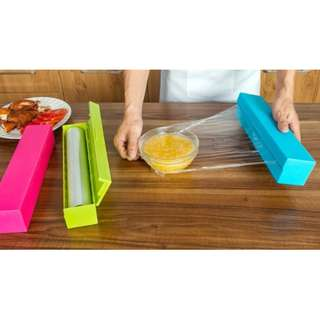 76683 Kitchen Foil Cling Film Wrap Dispenser Cutter Storage