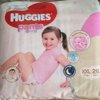Huggies platinum girl pants XXL