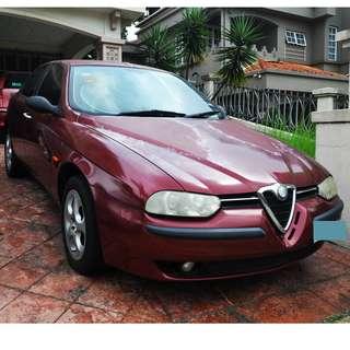 Alfa Romeo 156 for scrap or drive