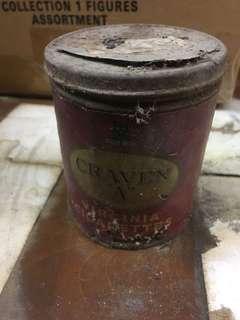 陳年香煙罐,外包裝為紙。