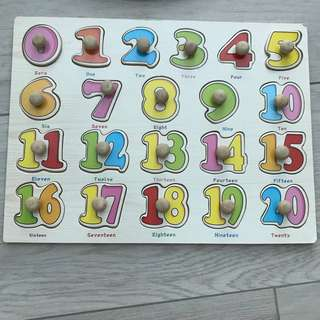 Wooden Toys - numbers puzzle
