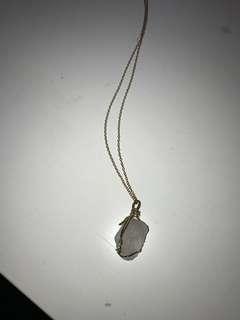 Crystal neklace gold