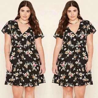 Plus Size Korean Floral Dress