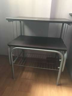 Single size bed frame and shelves to give away