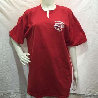 GILDAN red printed with studs plus size ladies tshirt blouse xl