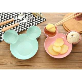 70734 Wheat Straw Mickey Cartoon 3 Grid Meal Bowl
