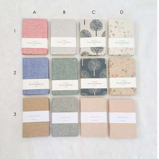 A6 Fabric Notebooks