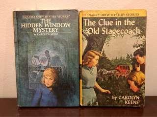 Lot of 2 Vintage (40-50+ old) Hardbound Nancy Drew Books