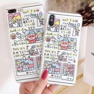 手機殼IPhone6/7/8/plus/X : 塗雅面包超人全包邊軟殼