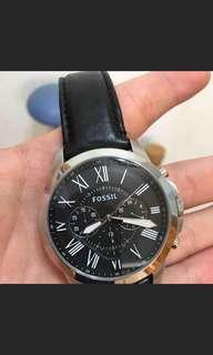 🚚 Fossil 旗艦三眼計時復刻腕錶-黑
