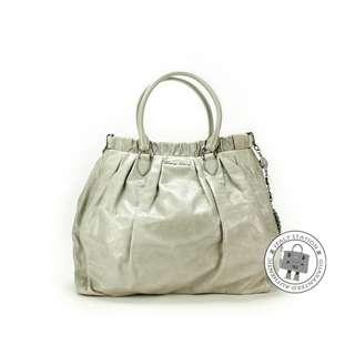 (NEW) MIU MIU RN0819 US0 VITELLO SHINE SHOPPING CALFSKIN TOTE BAG SHW, NUBE / F0424 全新 手袋