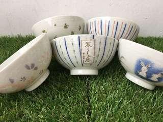 Ceramic Rice Bowl Set of 5