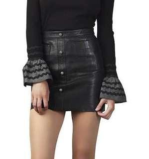 Aje Shrimpton Mini Black Skirt