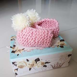Handmade Baby Booties For Baby Girl