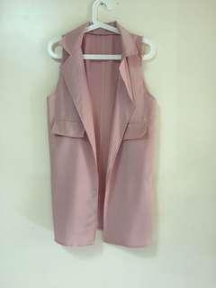 Dusty pink long vest