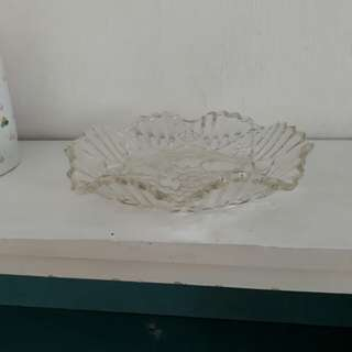 "vintage FEDERAL ""folded"" glass fruit bowl"