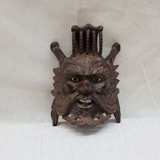 海龙王 solid wood. Dragon king of the sea face