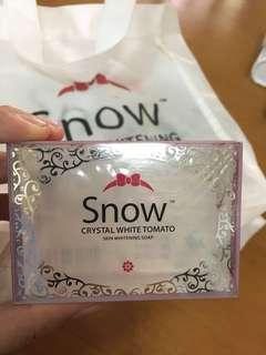 Snow Crystal White Tomato soap