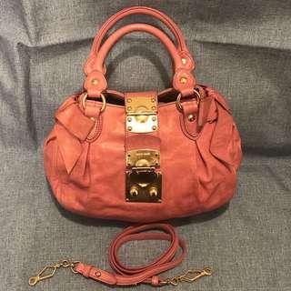 Miu Miu side ribbon 2-way handbag shoulder bag (ROSA)