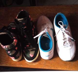 Nike Air and wedge shoes