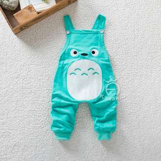 Green Cute Totoro Overall for Unisex Baby