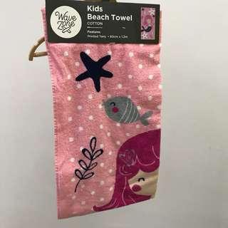 Kids towel mermaid cute pink