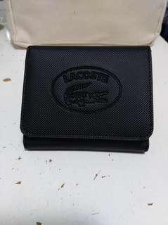 Lacoste黑色散銀紙幣銀包